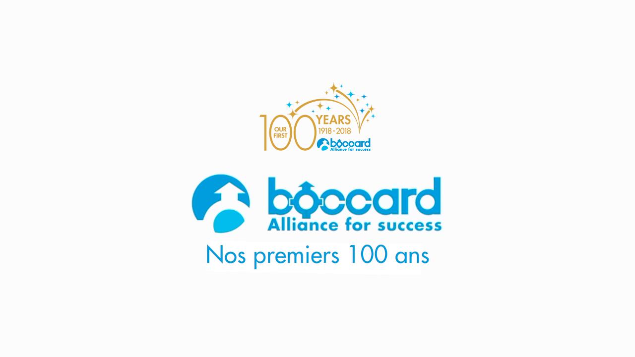 Accueil Boccard 100 Ans