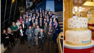Happy birthday Boccard in the United Kingdom: group and First 100 years cake