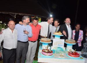De gauche à droite : C. Roussel (Boccard Côte d'Ivoire), C. Guillerm (BCM), P. Boutet (BCI), P. Gaillard (RH-COM), T. Villeneuve (BCI), B. Boccard et I. Nevry (BCI)