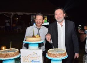 Bruno Boccard et Thomas Villeneuve (Boccard Côte d'Ivoire) célébrant nos premiers 100 ans à Abidjan